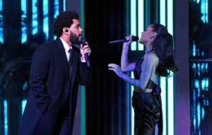The Weeknd and Ariana Grande perform 'Save Your Tears' at 2021 iHeartRadio Music Awards