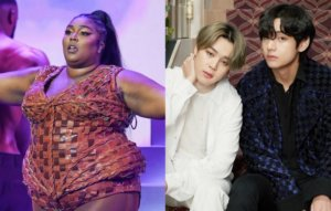 Lizzo freestyles a song about BTS members Jimin and V