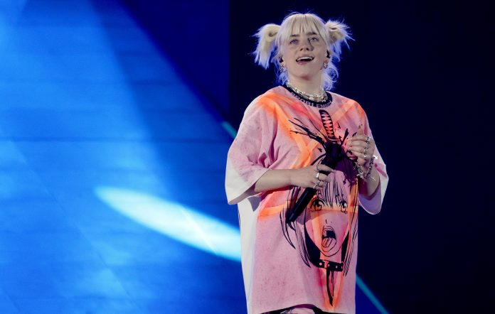Billie Eilish performs during the 2021 iHeartRadio Music Festival